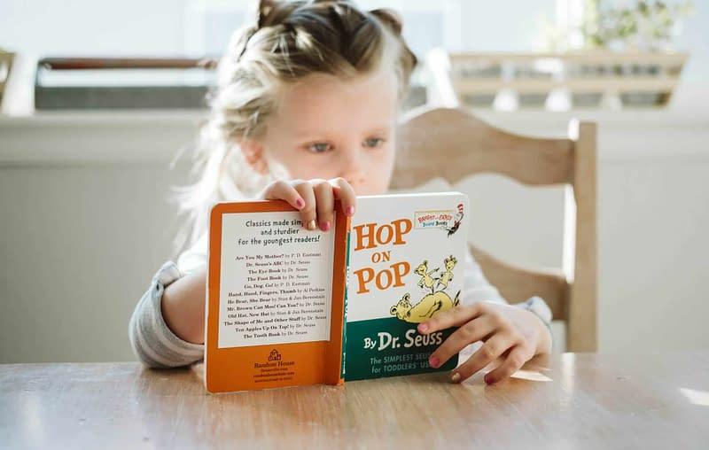 visual processing skills child reading book